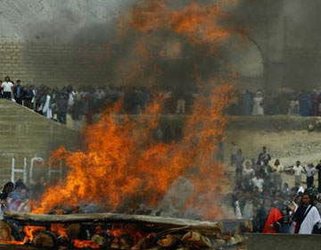 Ceremonia de ofrenda quemada