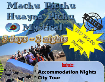 Machu Picchu Huayna Picchu Mystical ALL INCLUDED