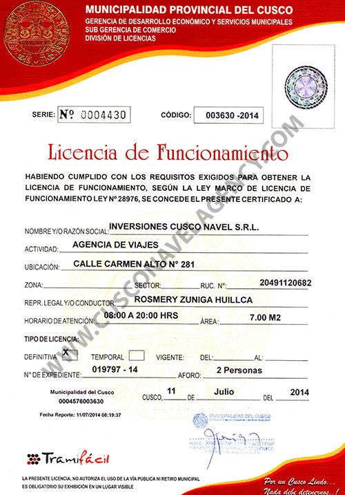 licencia-cusco-navel-agency