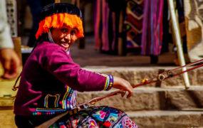 Mercado de Pisac en el Valle Sagrado de los Incas