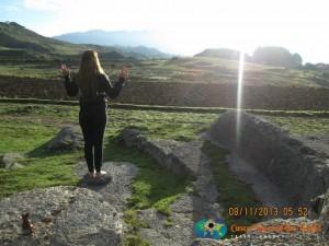 saludando al sol